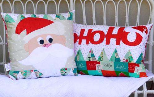 hohoho 2 x cushion patterns by claire turpin - Santa Hohoho 2