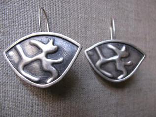 Sterling Silver Small Shield Earrings
