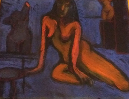 Nude with Sculptures