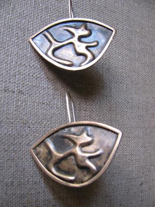 Bronze Small Shield Earrings