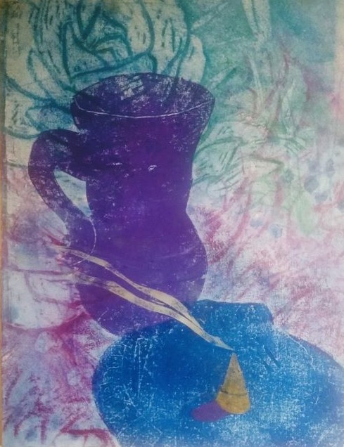 Still Life with Roman Glass and Blue She