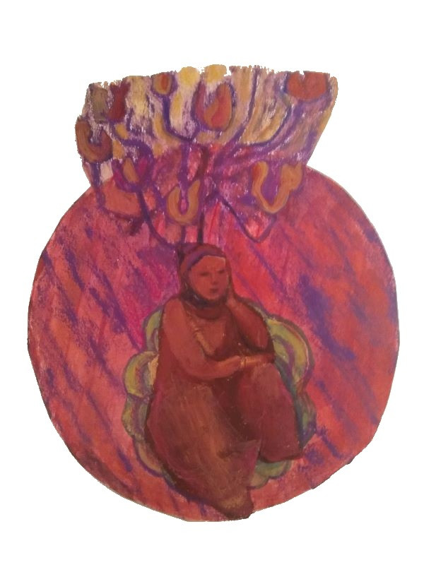 Still Life Circle with Crone and Candela