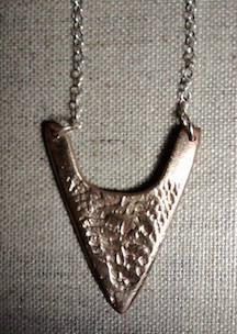Bronze and Sterling Silver Arrowhead Neckpiece