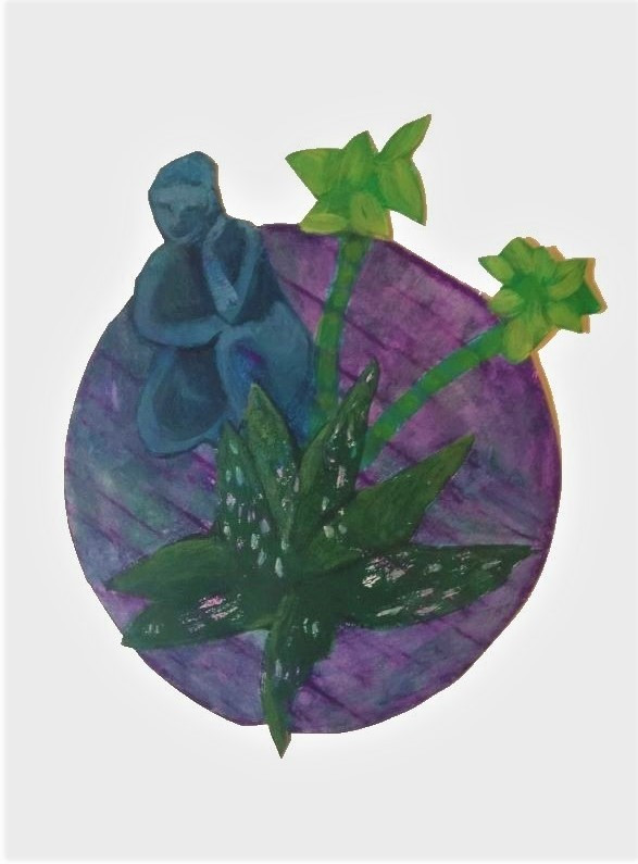 Still Life Circle with Crone and Succule