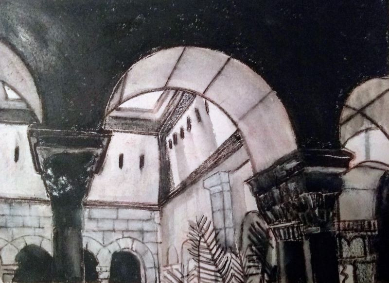 Cloisters Drawing in Litho Crayon.jpg