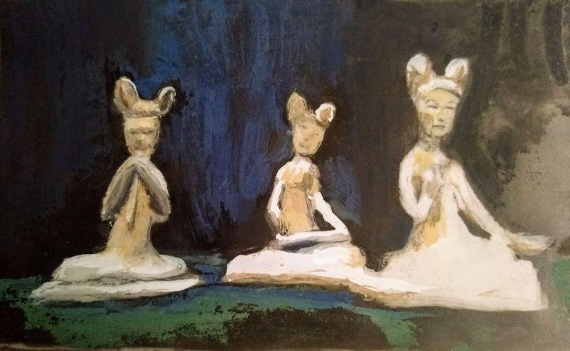 Three Bodhissatvas in Gouache.jpg