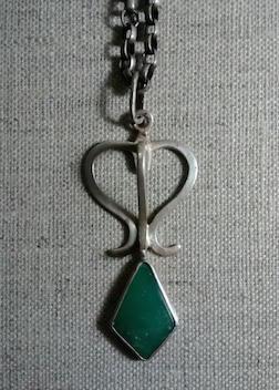 Lantern Neckpiece in Sterling Silver