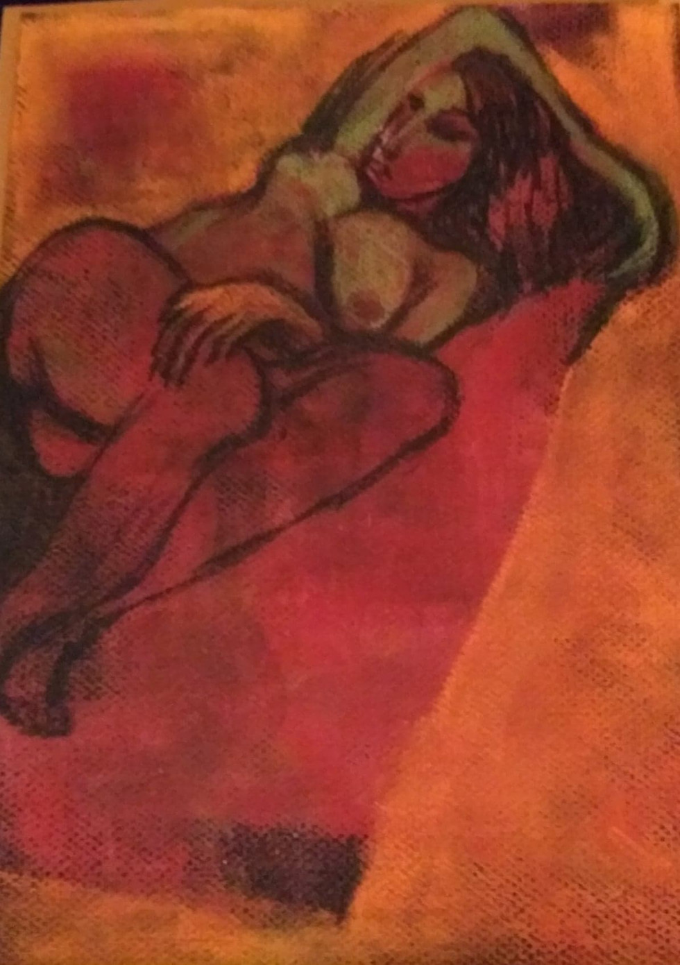 Red Reclining Nude