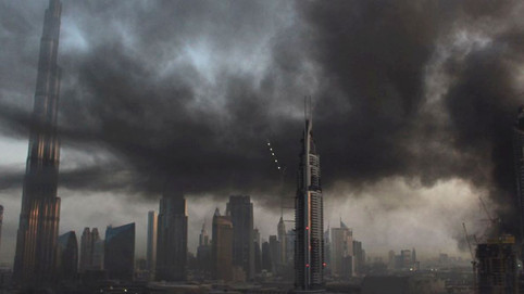 Fire hits Dubai high-rise complex near world's tallest tower