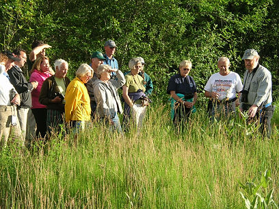 Dick Cannings leading Community Stewardship Tour in Lower Park Rill
