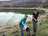 Okanagan Similkameen Stewardship Restoration of pond in fruit tree orchard