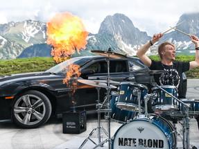 Drum Car Video Outside Shoot