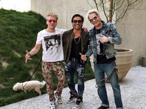 with actor Jay Tavare and artist Phoenix Benjamin, Los Angeles