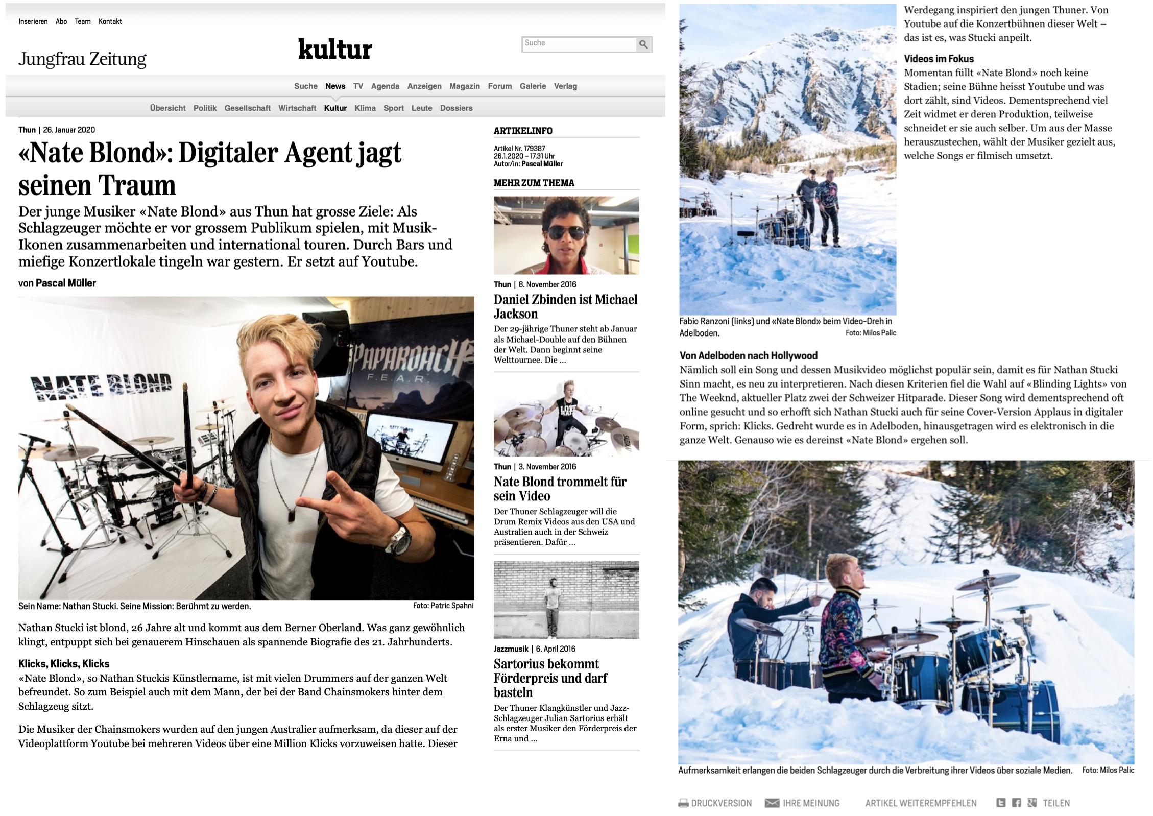 Jungfrau Zeitung Januar 2020