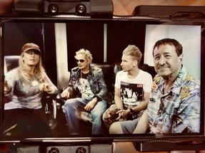 with actress Cali A. Rossen, artist Phoenix Benjmain and producer Alexander Perris, Los Angeles
