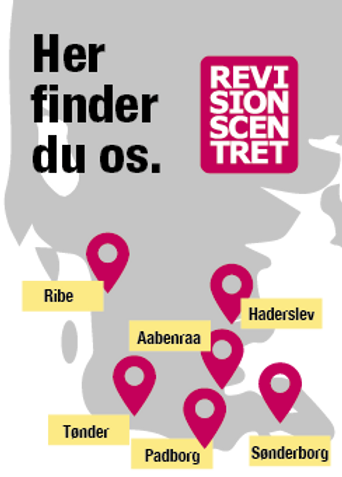 Revisionscentret finder du i disse byer
