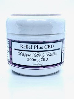 CBD Whipped Body Butter 2oz 500mg   Pain Management   Clean Beauty