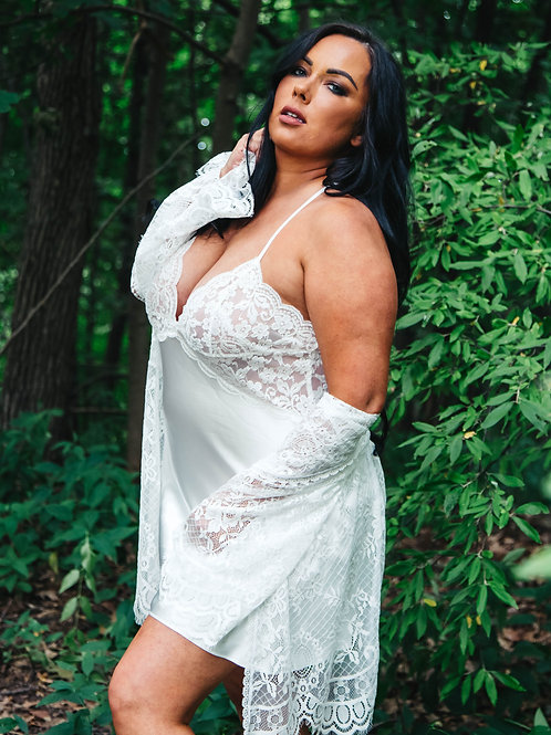 Words of Love Chemise in Ivory
