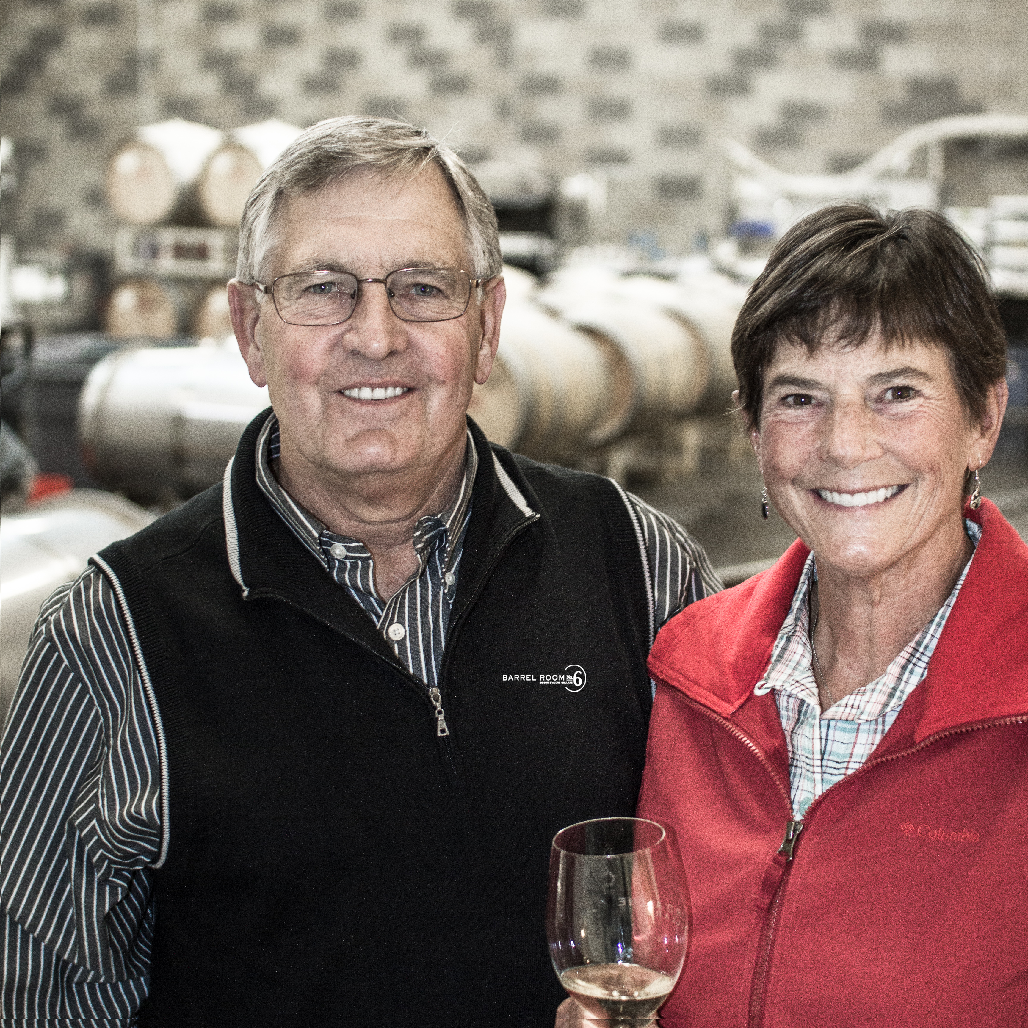Mom and Dad in Cellar 2013
