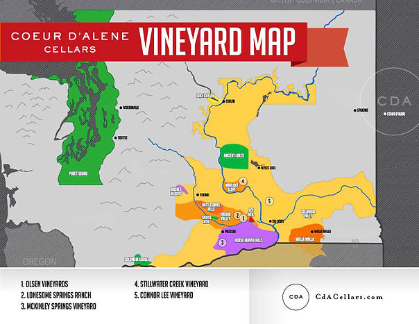 Washington Vineyard Map