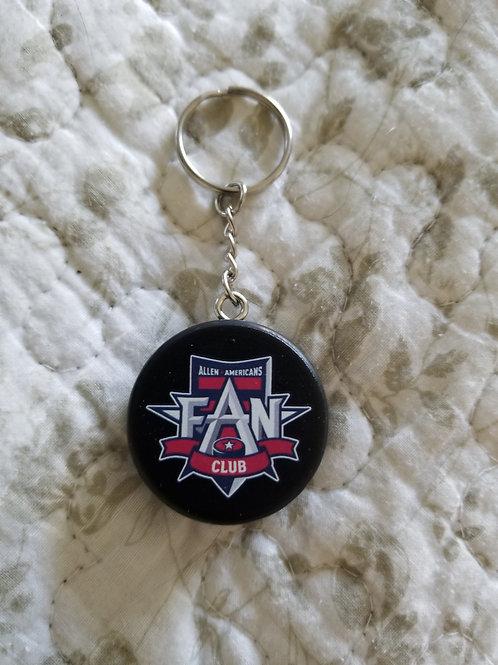 Hockey Puck Key Chain