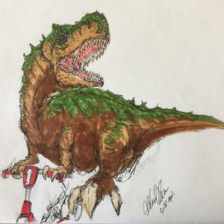 T-Rex on a Roll