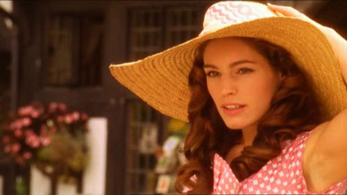 Miss Marple - Kelly Brook Hair styled, make up