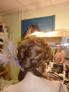 Anna-Karenina - Sorine Sofair Hair styled with hair pieces. Make up