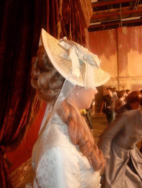 Anna Karenina - Cara Delevinge Hair styled with hair pieces. Make up