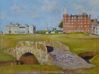 "St.Andrews Golf Course, Scotland. Oil on linen 30""x40"""