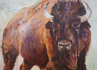 The Big Bison oil painting