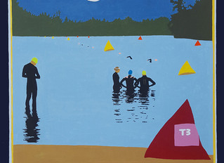 IRONMAN LAKE PLACID SWIM POSTER