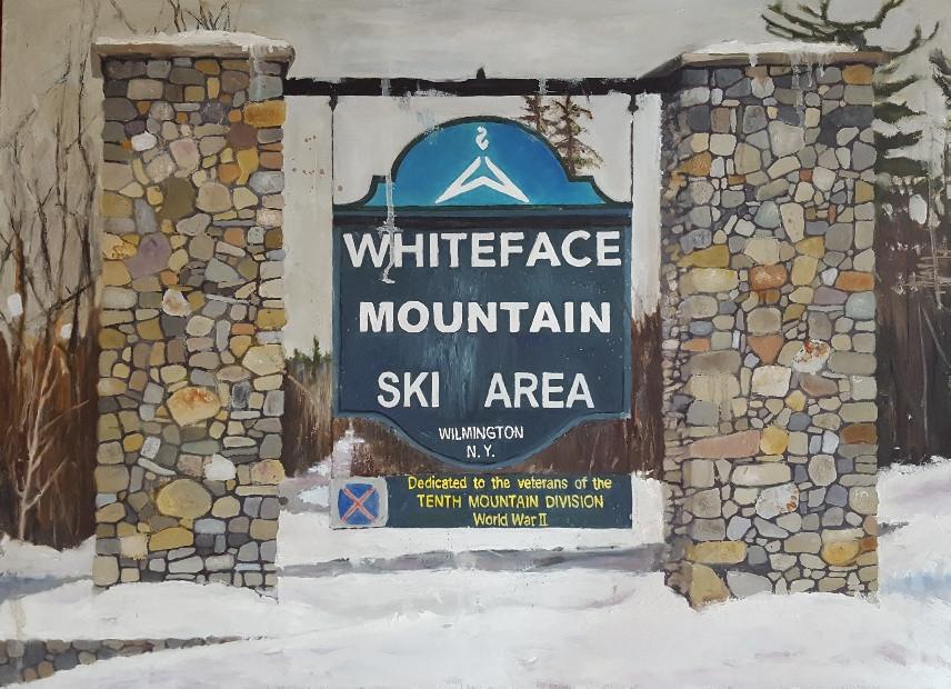 Whiteface Mountain Ski Area, oil on linen