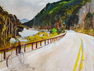 Ironman Lake Placid Bike Course, Cascade Lakes, oil on canvas 30x40