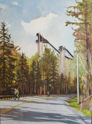 Ironman Bike Ski Jumps