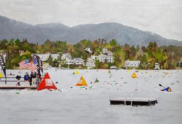Around the Red Buoy, Ironman Lake Placid Swim