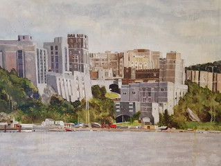 "West Point Oil Painting. 30""x40"" oil on canvas."