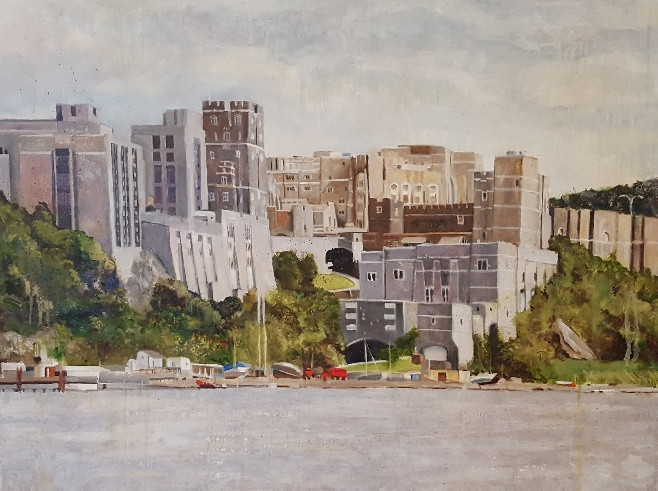 West Point, NY. Oil on canvas