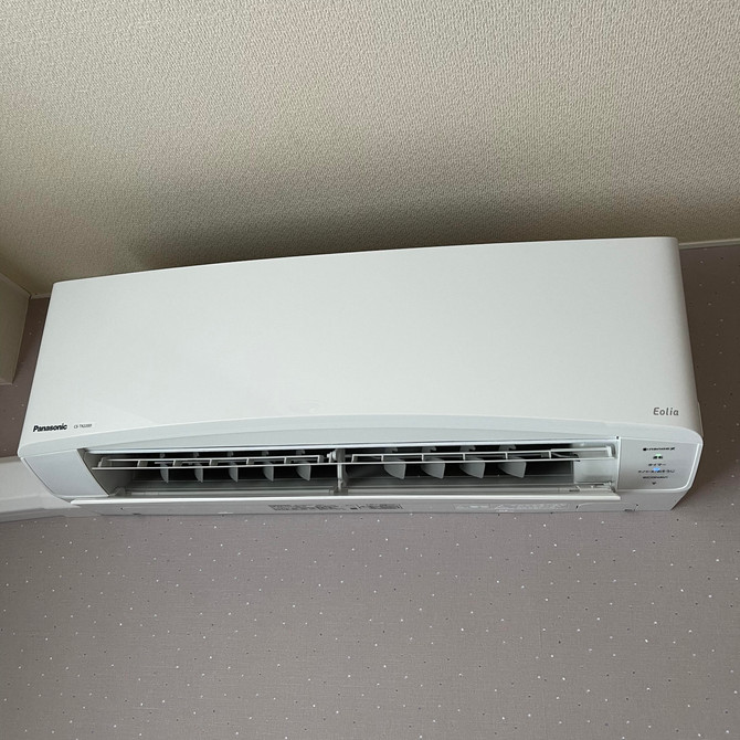 コロナ感染症防止対策として廊下に矯正換気扇と109,213,215,216にナノイーX搭載のエオリア冷暖房設備が付きました!ペットオッケー!