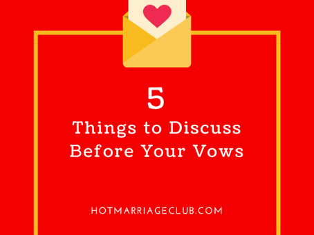 5 Things to Discuss Before Your Vows