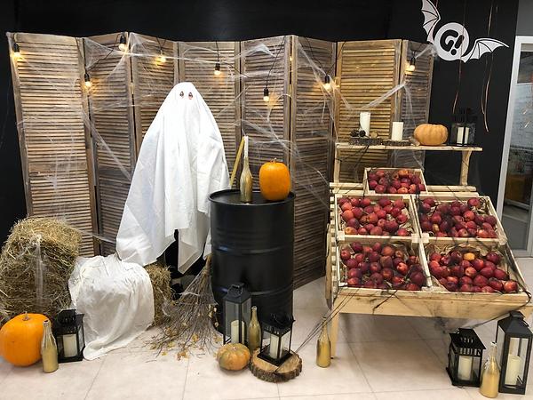 оформление фотозоны к хеллоуину, декор к хеллоуину