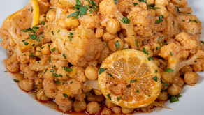 New Recipe: Vegan Marinated Cauliflower with Chickpeas and Saffron