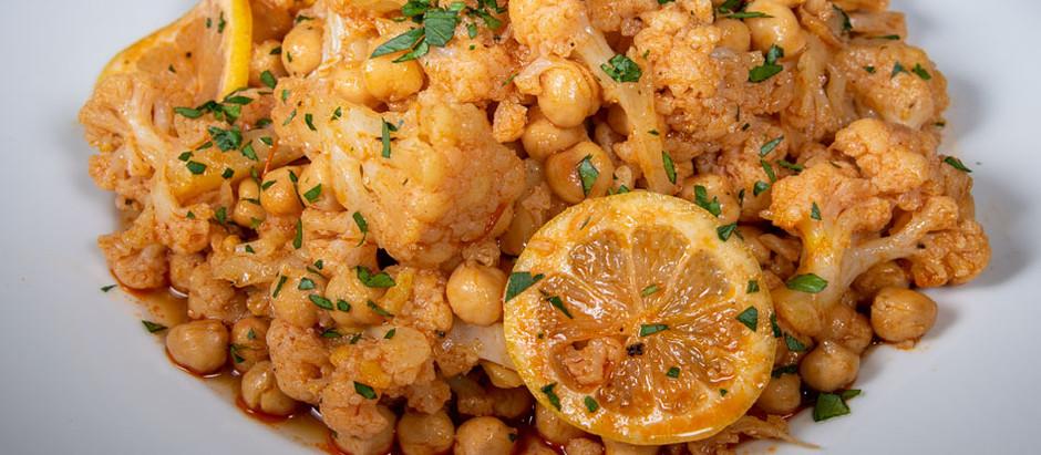 New Recipe: Vegan Marinated Cauliflower with Chickpeas and Saffron