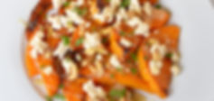 Roasted butternut squash with tahini and feta I Better Vegan Recipes