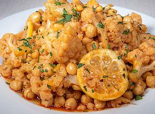 Marinated Cauliflower with Chickpeas and Saffron