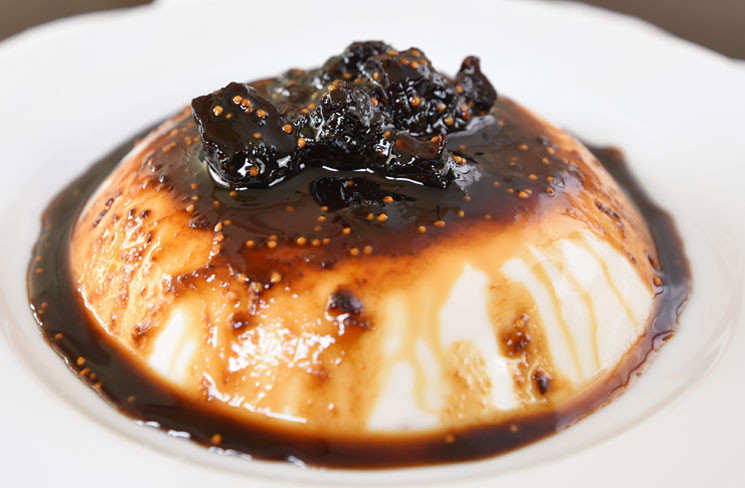 Vegan Coconut Panna Cotta with Balsamic Fig Syrup