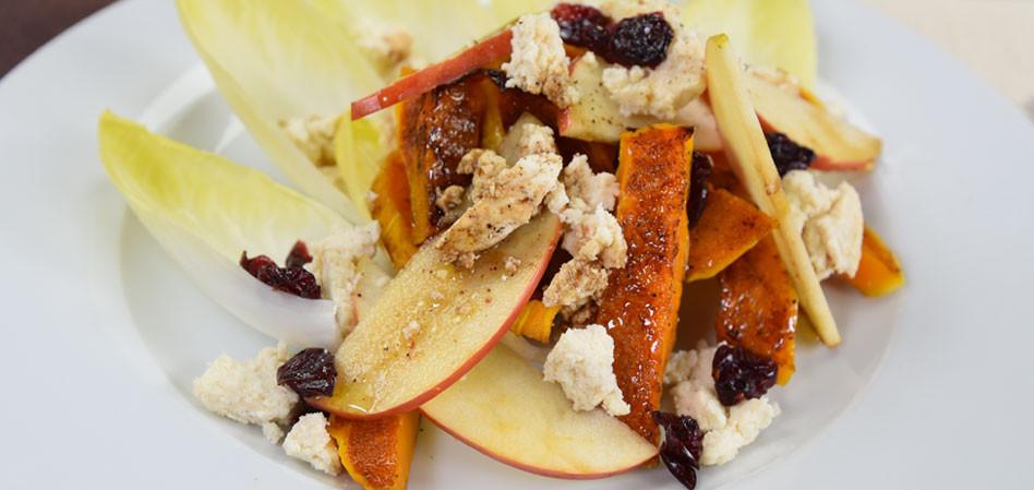 Vegan Roasted Butternut Squash and Apple Salad
