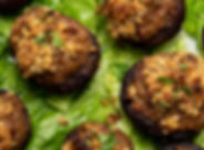 Vegan Grain Free Stuffed Mushrooms