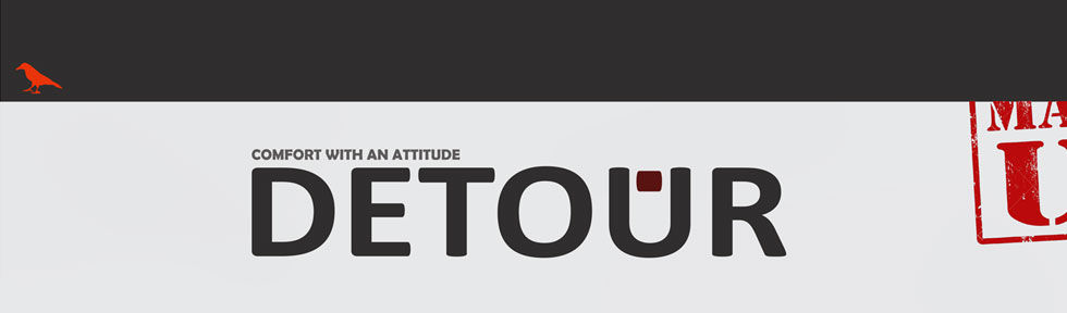 Detour Brand - Comfort with an Attitude - t shirt graphic design company