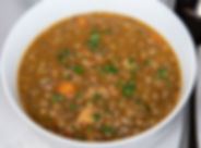 Vegan Hearty Spanish-Style Lentil and Sausage Soup